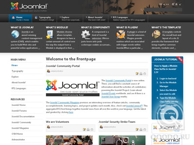 JA Purity II - T3 Template Framework - Шаблон для Joomla 1.5