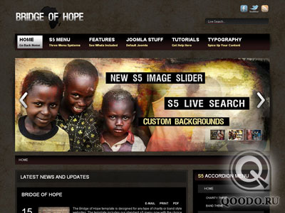 S5 Bridge of Hope - Шаблон для Joomla 1.5