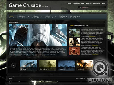 S5 Game Crusade - Шаблон для Joomla 1.5