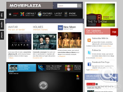 TP Movie Plazza - Шаблон для Joomla 1.5